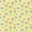Floral Field Seamless Pattern — Stock Vector