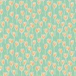 Tulip Field Seamless Pattern — Stock Vector