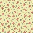 Different Flowers Seamless Pattern — Stock Vector