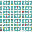 Collection of 144 healt and medicine doodled icons — Stock Vector