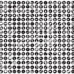 samling av 289 skola och utbildning doodled ikoner — Stockvektor