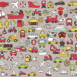 Big doodled transportation icons collection in colors — Stock Vector #27721821