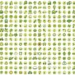 Stock Vector: Collection of 256 ecology doodled icons