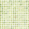 Collection of 256 ecology doodled icons — Stock Vector #27790495