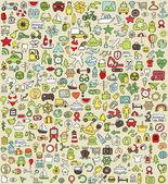 XXL Doodle Icons Set No.4 — Stock Vector