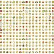 Vector de stock : XXL Collection of 289 doodled icons for every occasion No.3