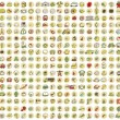 Vector de stock : XXL Collection of 289 doodled icons for every occasion No.1
