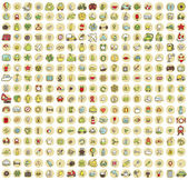 XXL Collection of 289 doodled icons for every occasion No.3 — ストックベクタ