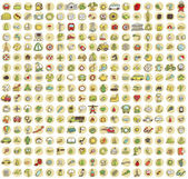 XXL Collection of 289 doodled icons for every occasion No.1 — ストックベクタ