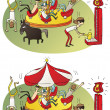 Stock Vector: Circus Differences Visual Game