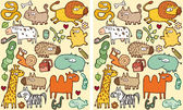 Animals Differences Visual Game — Stock Vector