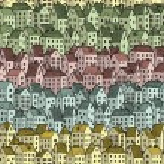 Rainbow City seamless pattern — Stock Vector