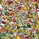 Food seamless pattern — Stock Vector #42450391