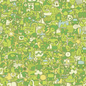 Ecology seamless pattern — Vecteur