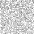 Web seamless pattern in black and white — Vector de stock
