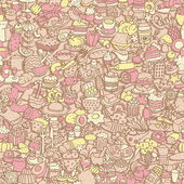 Food seamless pattern  — Stockvector