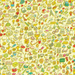 School seamless pattern — Wektor stockowy  #43108329