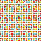 Icons and circles seamless pattern — Vecteur