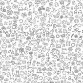 Symbols seamless pattern in black and white — Vecteur