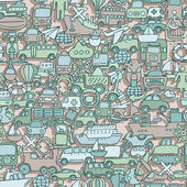 Transportation seamless pattern — Vecteur