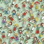 Singing children seamless pattern — Stock Vector #43449987