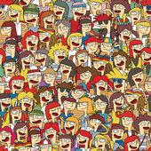 Singing children choir seamless pattern — Stock Vector