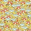 Beach bar seamless pattern — Stock Vector