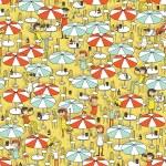 Beach bar seamless pattern — Stock Vector