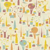 Woodland Animals seamless pattern  — Vettoriale Stock