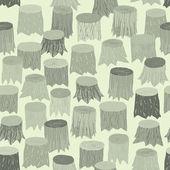 Tree Stump seamless pattern tapestry in grey — Vettoriale Stock