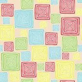 Modèle sans couture de carrés — Vecteur