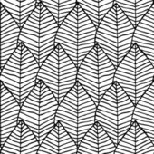 Primitive structure seamless pattern in black and white — Stock Vector