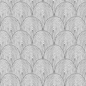 Landscape Hillside seamless pattern in black and white  — Stock Vector