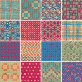 Textile seamless pattern SET No.10 — Stock Vector