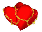 Hearts chained — Stock Photo