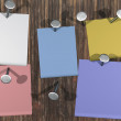 Colorful post-it on a white background — Stock Photo