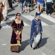 Stock Photo: People in medieval costumes, historical re-enactment