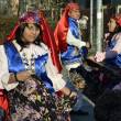 Peruvian party: people, costumes and dances — Stock Photo