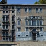 Постер, плакат: Venetian palace facade Italy in Miniature Park