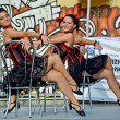 Flamenco female dancers perform — Stock Photo