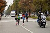 Athletics competition-Stratorino, 2013 - the winner Patrick Terer and compatriot Kolum — Stock Photo