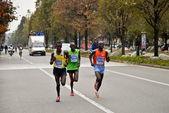 Athletics competition-Stratorino, 2013 - the winner Patrick Terer — Stock Photo