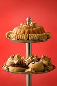 Arranged assortment of baked goods — Stock Photo