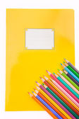 School stationery on the white — Stock Photo