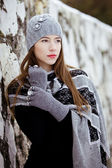 Fashion winter portrait — Stock Photo