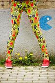 Legs of teenage girl outdoor — Foto de Stock