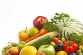 Organic fruit and vegetables — Stockfoto