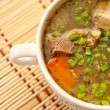 Mutton soup with vegetables - Stock Photo
