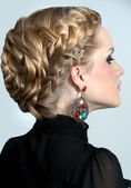 Evening hairstyle — Stock Photo