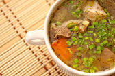 Mutton soup with vegetables — Stock Photo